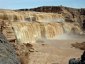 Little Colorado River - The Grand Falls of the Little Colorado River, seen at peak flow in April