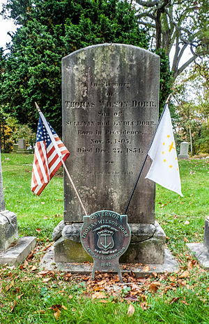 Thomas Wilson Dorr - Grave of Governor Thomas Wilson Dorr in Swan Point Cemetery, Providence