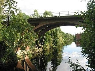 Grini - Røa Line bridge over Grinidammen