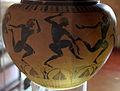 Gruppo dei dinoi campana, ribbon painter, prod. etrusca con maestranze ioniche, dinos con danzatori, 540-520 ac ca. 02.JPG