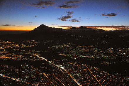 Evening view from a plane Guatemala city aerial night b.JPG