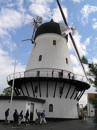 Bornholm - Windmill in Gudhjem, Bornholm