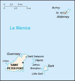 Guernsey - Mappa