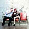 Guido Karp and Angus Young of ACDC, London 2008.jpg