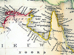 Gulf of Carpentaria - The Gulf of Carpentaria from an 1859 Dutch map