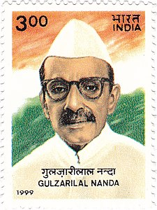 Gulzarilal Nanda 1999 stamp of India.jpg