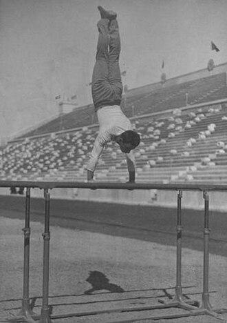 Gymnastics at the 1896 Summer Olympics – Men's horizontal bar - Image: Gymnastics at the 1896 Summer Olympics Men's parallel bars