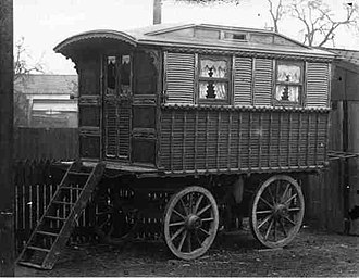 Itinerant groups in Europe - A Showman's wagon, used for accommodation and transportation.