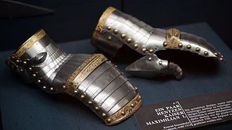 Gauntlet (glove) - Almain rivet gauntlets of Emperor Maximilian I, c. 1514. Museum of Fine Arts (Kunsthistorisches Museum), Vienna