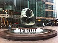 HK Central 中環 交易廣場 Exchange Square 亨利摩爾 Henry Moore sculpture Oval with Points on Fountain Jan-2012.jpg