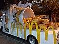 HK SW 上環 Sheung Wan night outdoor ads McDonald's chicken food in art March 2020 SS2 01.jpg