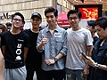 HK cwb 銅鑼灣 Causeway Bay 記利佐治街 Great George Street singer 林奕匡 Phil Lam n friends April 2018 LGM 02.jpg