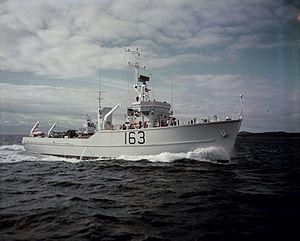 HMCS Miramichi (MCB 163) - Image: HMCS Miramichi MIKAN 4821367
