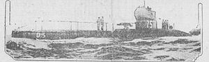 HMS D5 in the Bisbee paper January 7 1915.jpg