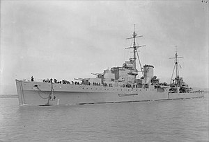 Corfu Channel incident -  HMS ''Orion'' was one of the ships fired on in the first incident