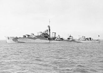 HNoMS Stord (G26) - Image: H No MS Stord 1943 IWM A 020865