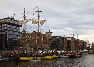 HafenCity - Tradition harbor at Sandtorkai.