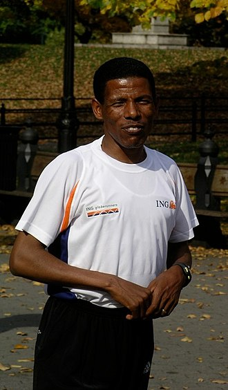 Haile Gebrselassie - Haile in New York in 2003