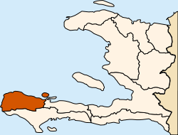 Location of the Grand'Anse Department