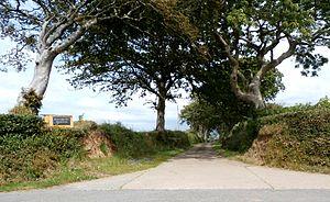 Halsbury - Road entrance to Halsbury