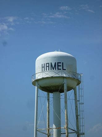 Hamel, Illinois - Hamel Water Tower