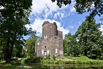 """Illuminati - """"Ruined"""" castle built by Prince Charles of Hesse-Kassel in the park at Wilhelmsbad, venue for the last convent of the Strict Observance"""
