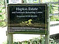 Hapton Estate and Parkland Rehoming Centre (sign) - geograph.org.uk - 1385248.jpg
