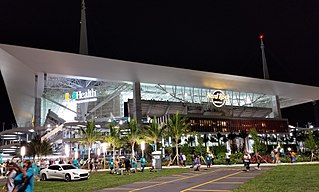 Hard Rock Stadium, home of the Miami Dolphins of the NFL and plays host to the Miami Hurricanes