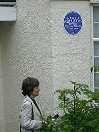 Harold Abrahams plaque unveiling