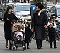 Hasidic Family in Street - Borough Park - Hasidic District - Brooklyn.jpg