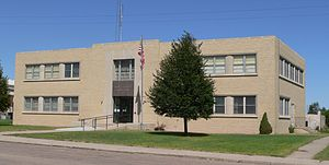 Hayes County, Nebraska courthouse from SE 1.JPG