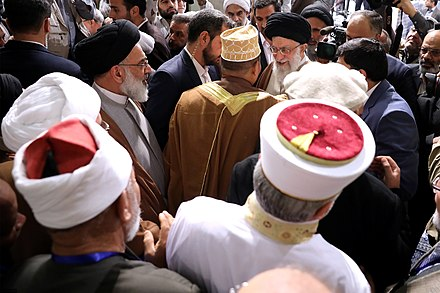 Participants of 31st International Islamic Unity Conference meeting with Khamenei, December 2017 Heads of State & Participants of 31th International Islamic Unity Conference Meeting with Ayatollah Sayyed Ali Khamenei 33.jpg