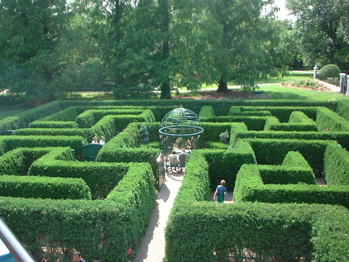 Datei Hedge Maze St Louis Botanical Gardens St Louis Missouri