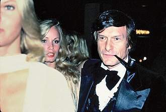 Hugh Hefner - Hefner at the premiere of Sylvester Stallone's movie F.I.S.T., 1978