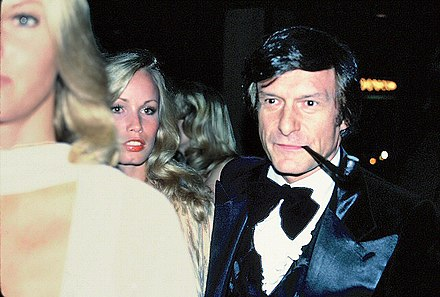 Hefner at the premiere of Sylvester Stallone's movie F.I.S.T., 1978