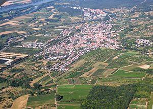 Vogelperspektive über Heidesheim am Rhein