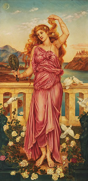 Gorgias - Helen of Troy by Evelyn De Morgan (1898, London)