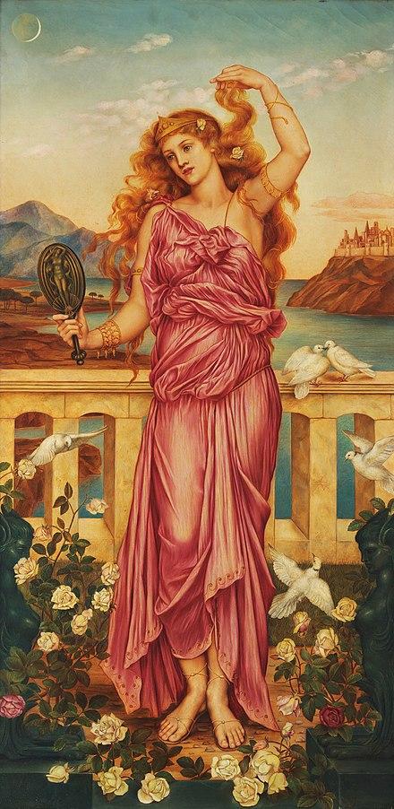 aphrodite goddess painting - 736×1514