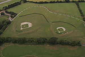 Baseball in Ireland - Aerial view of O'Malley Fields in Dublin, Ireland