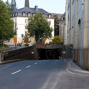 René Konen Tunnel - The entry of the tunnel.