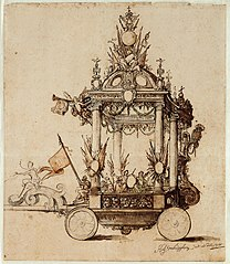 Float for the Apotheosis of Antwerp, with the Glorification of the House of Austria, 1718