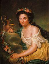 Henriette Herz, porträtiert von Anna Dorothea Therbusch, 1778 (Quelle: Wikimedia)
