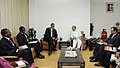 Henry Odien Ajumogobia meeting the Union Minister for Petroleum and Natural Gas, Shri Jaipal Reddy to discuss increasing imports of crude oil from Nigeria, in New Delhi on March 16, 2011.jpg