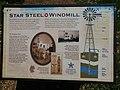 Heritage Park, Mountain View, California, Star Steel Windmill historical panel, June 2019.jpg