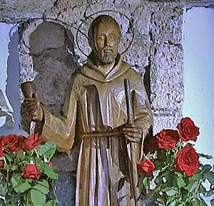 Bethlehemite Brothers - Statue of the order's founder, Saint Peter of Saint Joseph Betancur, in the pilgrimage shrine of the Holy Brother Pedro in Tenerife