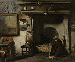 Anton Mauve: The Studio of the Haarlem Painter Pieter Frederik van Os