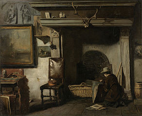 The Studio of the Haarlem Painter Pieter Frederik van Os