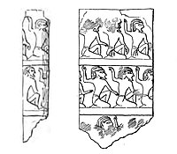 Hierakonpolis ivory cylinder with kneeling men, with impression (drawing).jpg