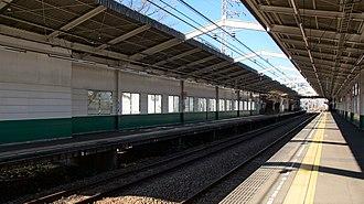 Higashi-Rinkan Station - Image: Higashi Rinkan Station platforms 20161216 (1)