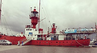 Historic light ship, the LV 18, The Boat That Rocked, Ipswich, Suffolk, England.jpg